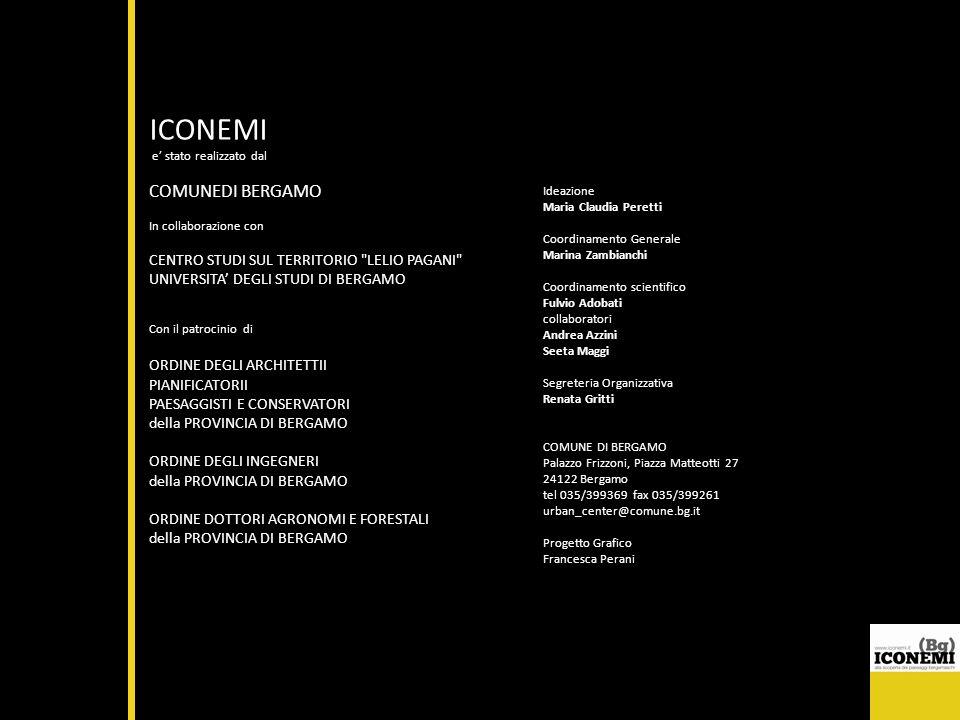 ICONEMI e stato realizzato dal COMUNEDI BERGAMO In collaborazione con CENTRO STUDI SUL TERRITORIO