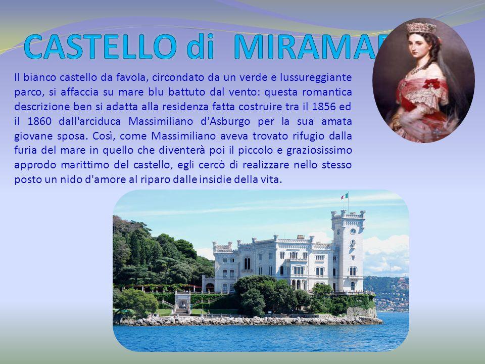 Il bianco castello da favola, circondato da un verde e lussureggiante parco, si affaccia su mare blu battuto dal vento: questa romantica descrizione b