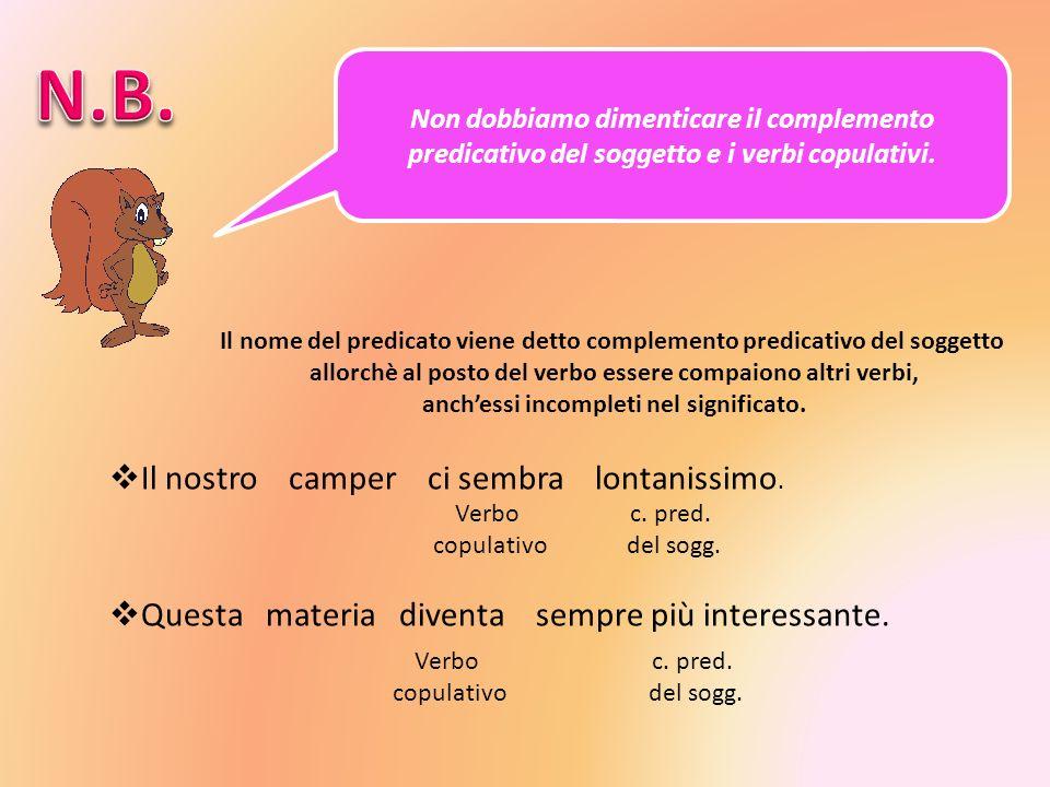 Il complemento predicativo del soggetto è introdotto: Da alcuni verbi privi di significato: sembrare, apparire, parere, diventare.