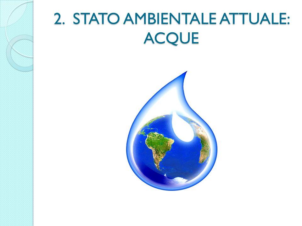 2. STATO AMBIENTALE ATTUALE: ACQUE