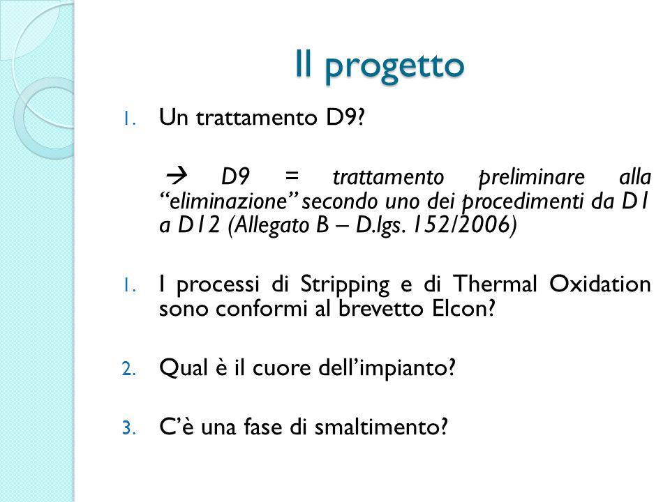 Il progetto 1. Un trattamento D9.
