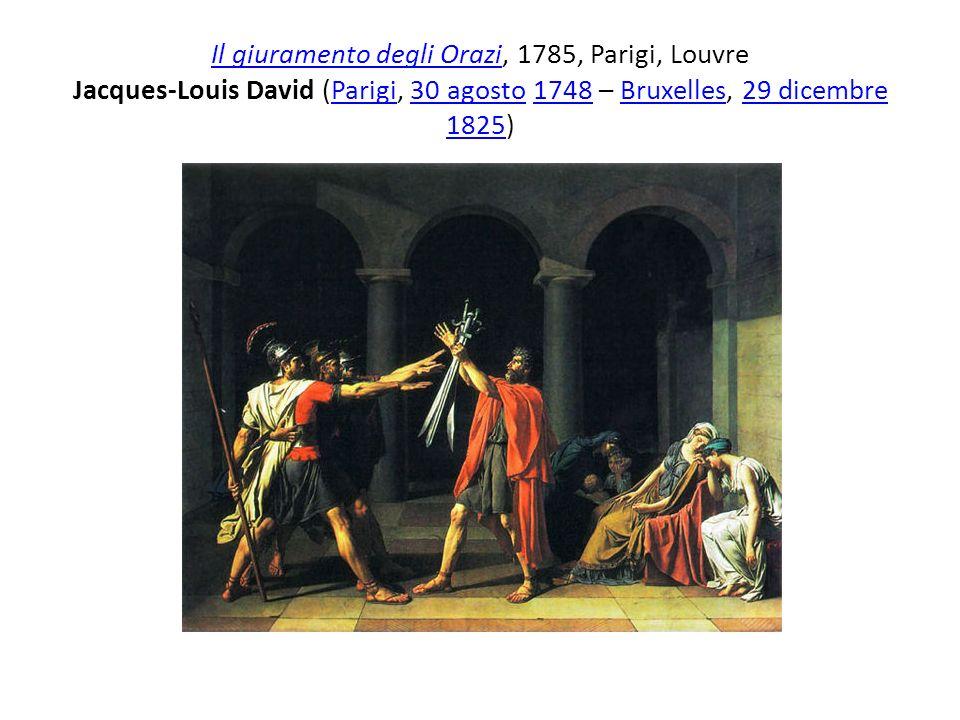 Il giuramento degli OraziIl giuramento degli Orazi, 1785, Parigi, Louvre Jacques-Louis David (Parigi, 30 agosto 1748 – Bruxelles, 29 dicembre 1825)Par