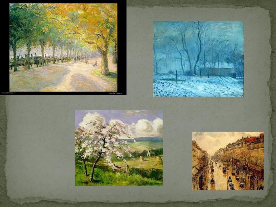 Verso la seconda metà dell800 conobbe e divenne amico di Pissarro.