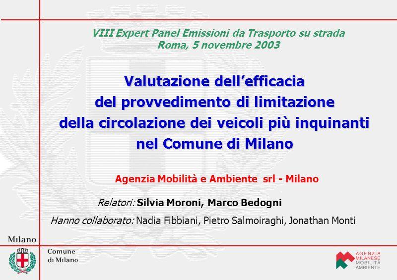 Fattori di emissione Metodologia COPERT III per tutti gli inquinanti diversi dal PM 10 incluso leffetto della riformulazione dei carburanti introdotta dallanno 2005 per effetto della Fase II della Dir.
