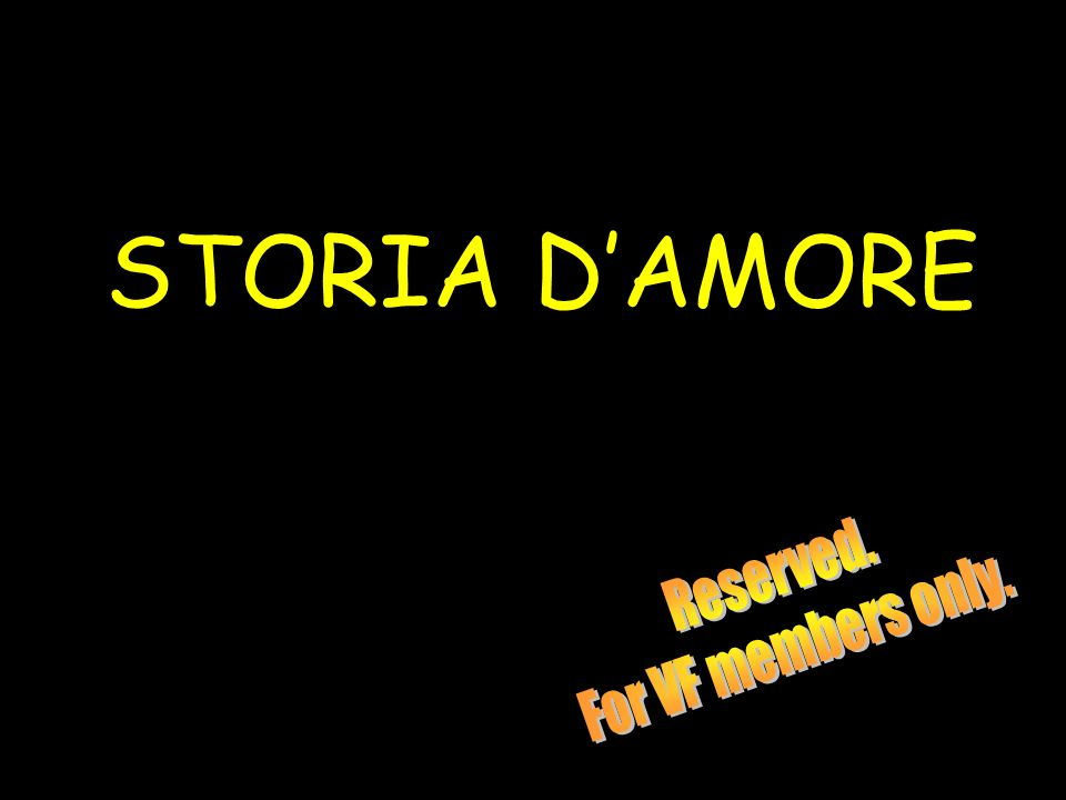 STORIA DAMORE