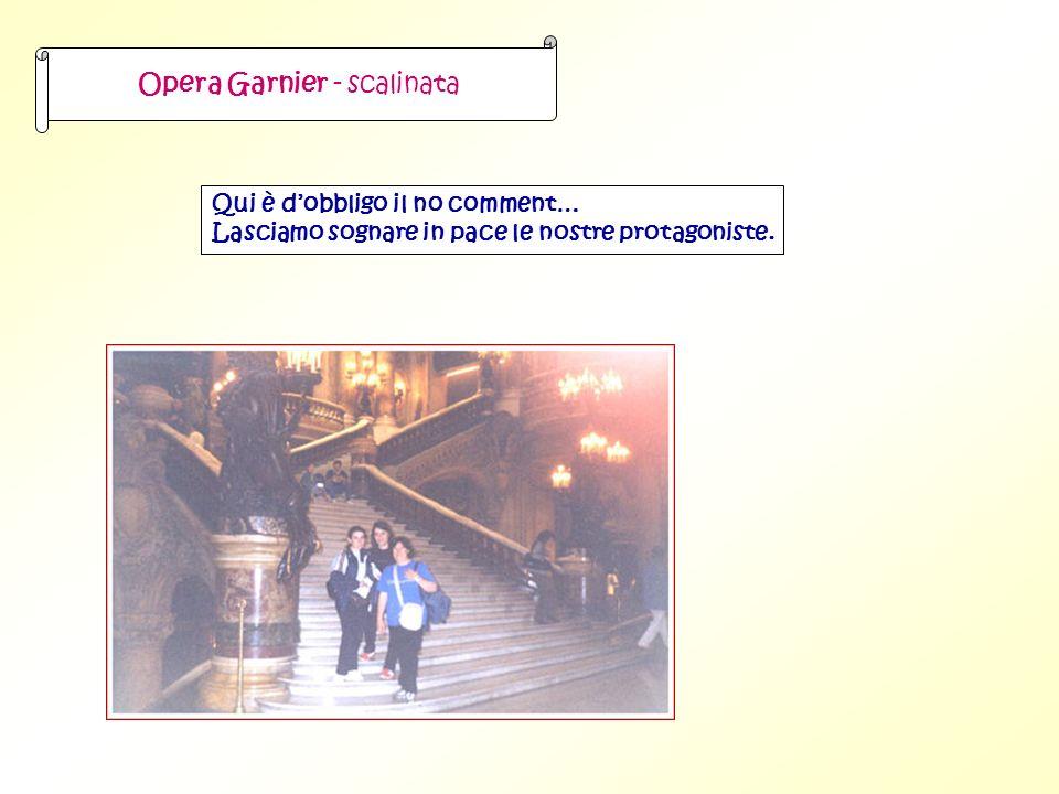 Opera Garnier - scalinata Qui è dobbligo il no comment… Lasciamo sognare in pace le nostre protagoniste.