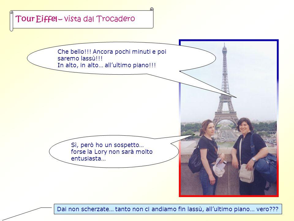 Tour Eiffel – vista dal Trocadero Che bello!!. Ancora pochi minuti e poi saremo lassù!!.