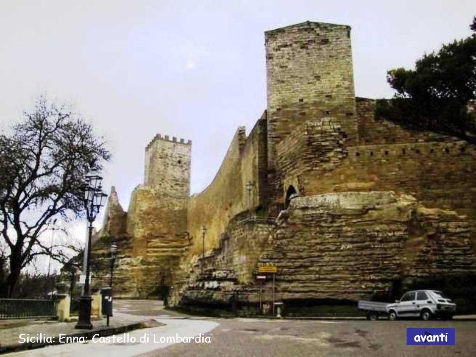 Sicilia: Enna: Castello di Lombardia avanti