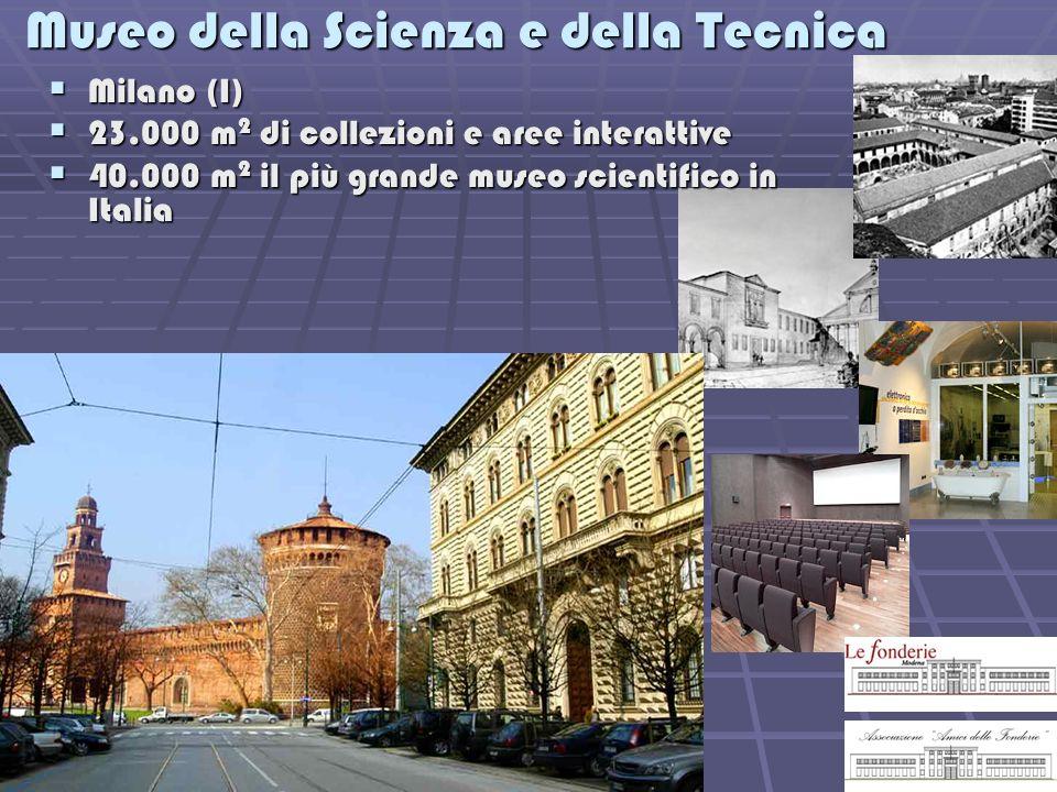 Museo della Scienza e della Tecnica Milano (I) Milano (I) 23.000 m 2 di collezioni e aree interattive 23.000 m 2 di collezioni e aree interattive 40.0