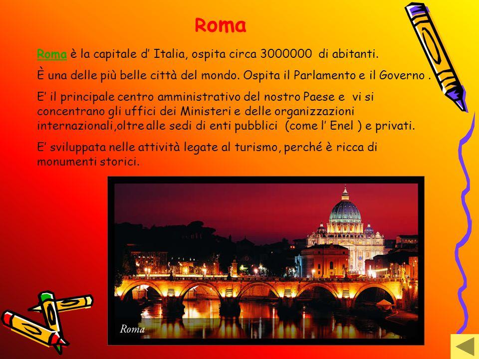 R oma RomaRoma è la capitale d Italia, ospita circa 3000000 di abitanti. È una delle più belle città del mondo. Ospita il Parlamento e il Governo. E i