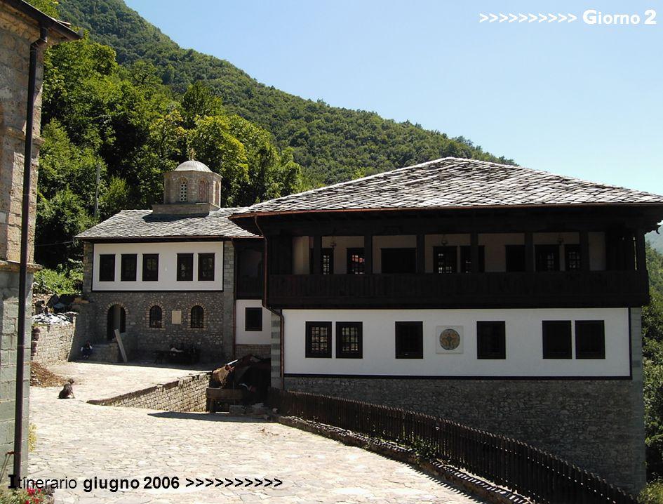 in viaggio verso Ohrid >>>>>>>>>> G iorno 3 nel villaggio di Trpejca gusteremo la trota salmonata tipica del lago >>>>>>>>>> G iorno 3 I tinerario giugno 2006 >>>>>>>>>> Città di Ohrid Chiesa di Sv.