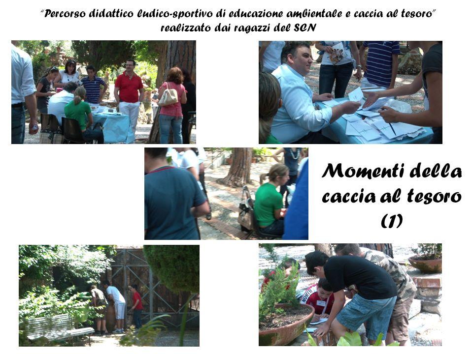 Percorso didattico ludico-sportivo di educazione ambientale e caccia al tesoro realizzato dai ragazzi del SCN Momenti della caccia al tesoro (2) prove fisiche-sportive