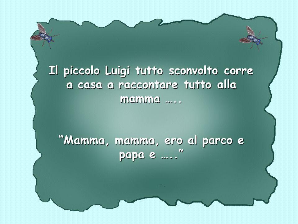 Il piccolo Luigi tutto sconvolto corre a casa a raccontare tutto alla mamma …..