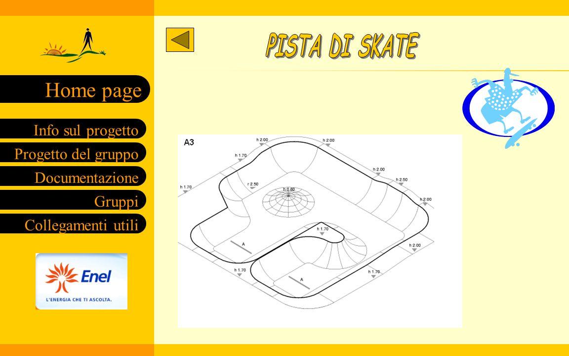 Progetto del gruppo Documentazione Gruppi Collegamenti utili Info sul progetto Home page Legenda 1 Acquario 2 Campo di bocce 3 Pista di skate 4 Tribun