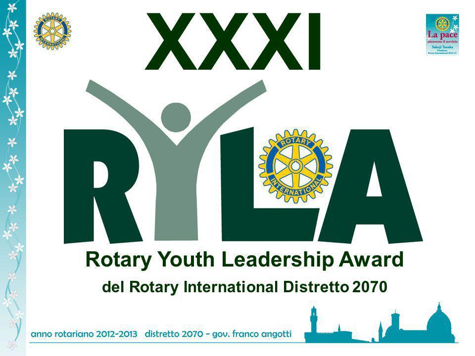 Entro il 12 di gennaio 2013 perverranno ai Presidenti dei Club le modalità di iscrizione al XXXI RYLA in modo da poter avere sufficiente tempo per poter organizzare al meglio questa unica e magica manifestazione che i Rotariani, grazie al loro impegno realizzano a favore dei giovani, forza del nostro futuro.