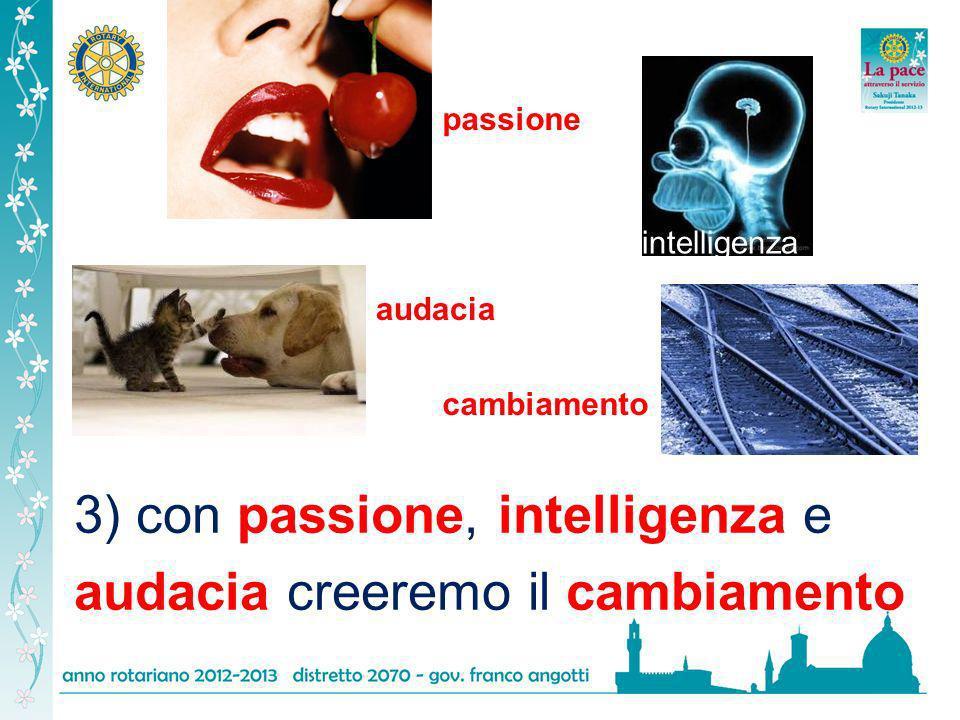 3) con passione, intelligenza e audacia creeremo il cambiamento passione intelligenza audacia cambiamento