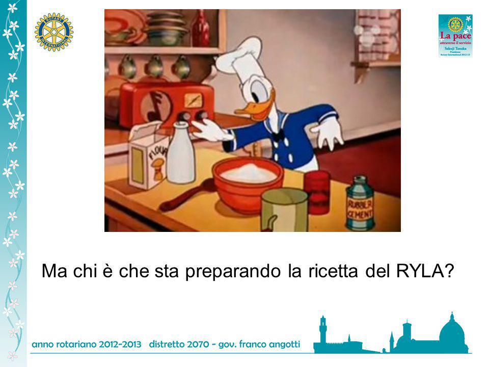 Ma chi è che sta preparando la ricetta del RYLA?