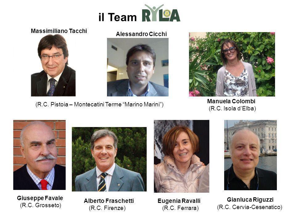 Gianluca Riguzzi (R.C. Cervia-Cesenatico) Eugenia Ravalli (R.C. Ferrara) Alberto Fraschetti (R.C. Firenze) Manuela Colombi (R.C. Isola dElba) (R.C. Pi