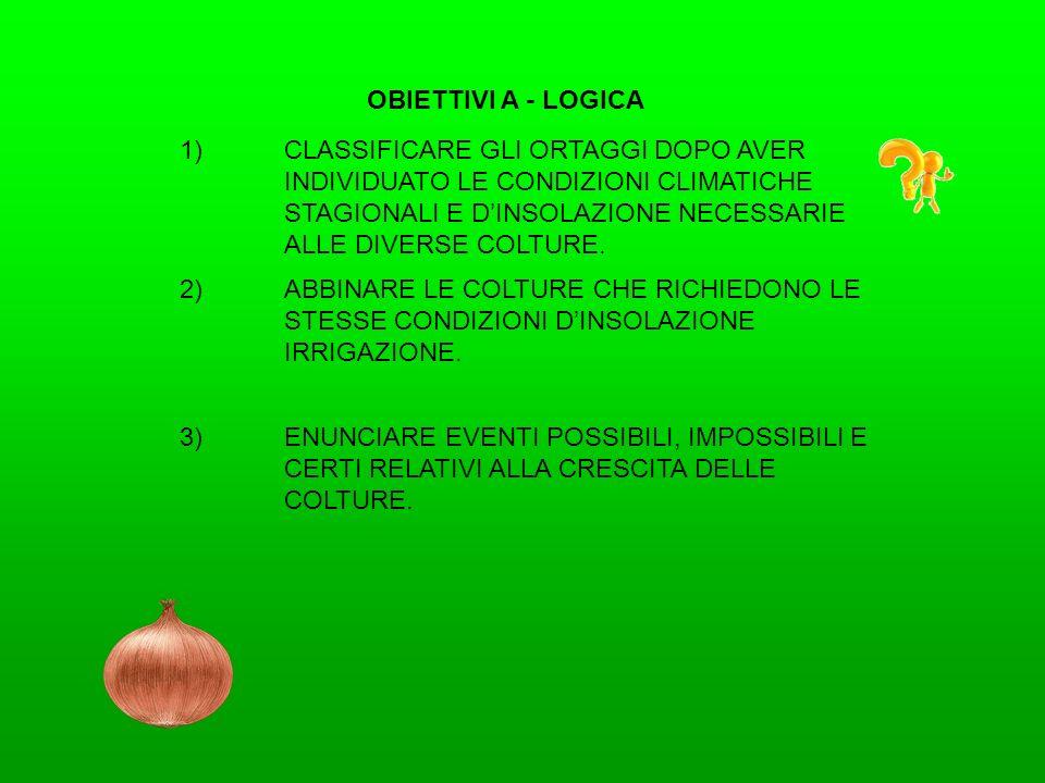 OBIETTIVI A - GEOMETRIA 1)TRACCIARE IL CONFINE DELLORTO.