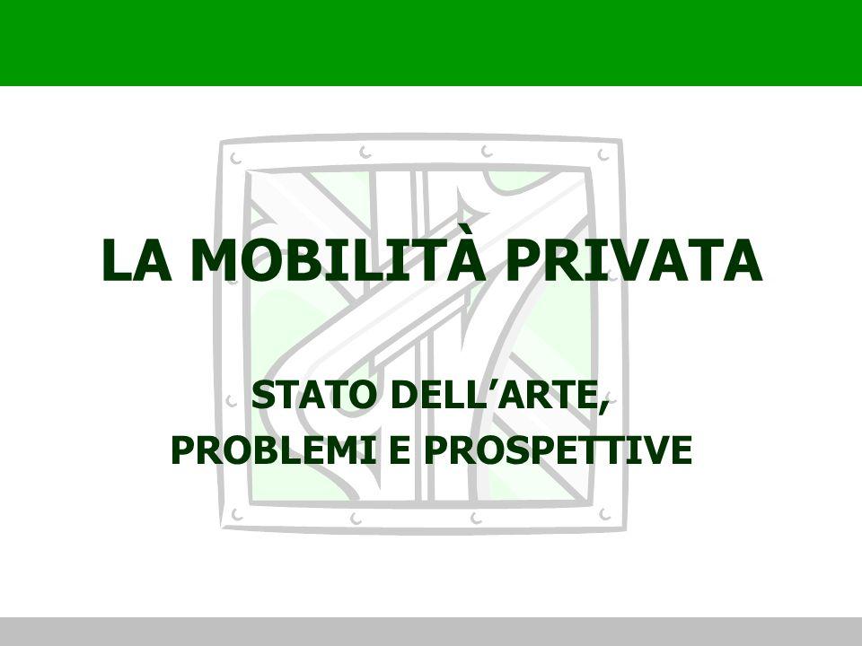 LA MOBILITÀ PRIVATA STATO DELLARTE, PROBLEMI E PROSPETTIVE