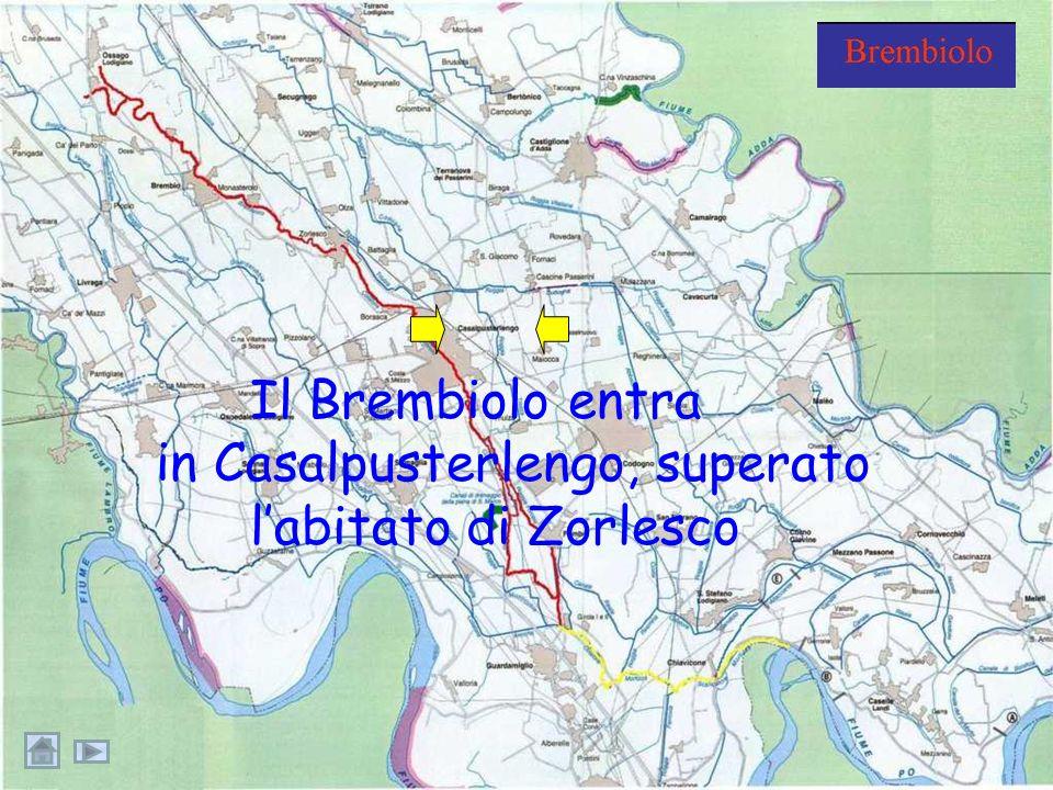 Il Brembiolo a Zorlesco: la sua portata è in aumentoportata