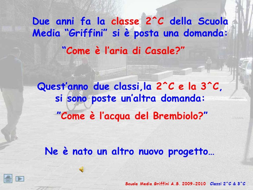 Due anni fa la classe 2^C della Scuola Media Griffini si è posta una domanda: Come è laria di Casale.