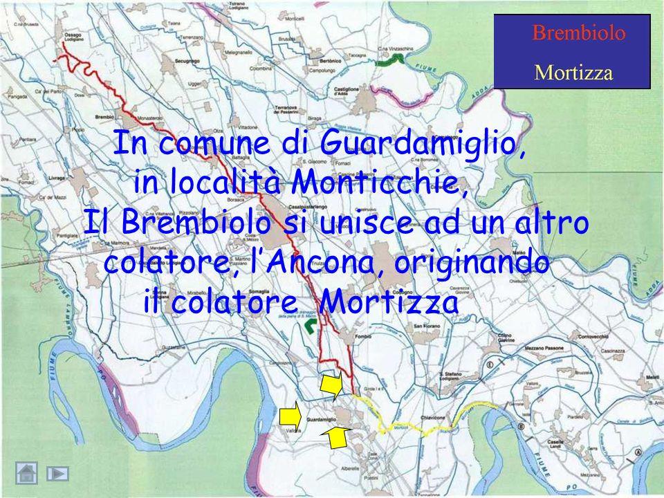 …il Brembiolo cede parte delle sue acque alla roggia Fombio.