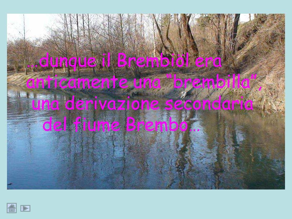 … forse, Brembiöl è il diminutivo di Brembo, il fiume che nasce dalle Alpi Orobie e che si getta nellAdda come affluente di sinistra