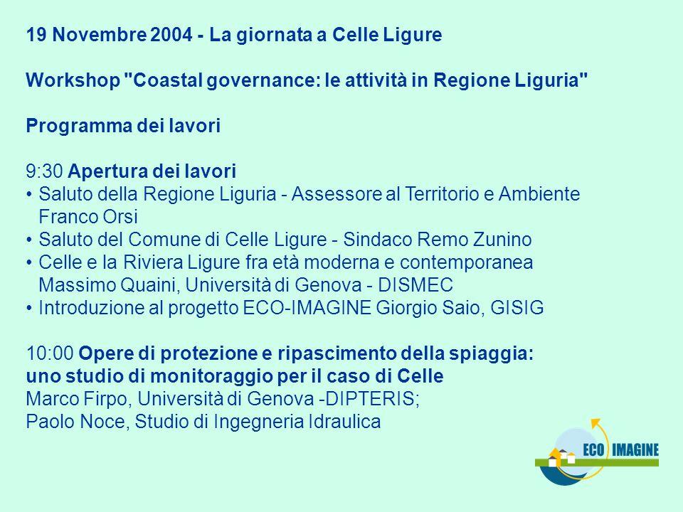19 Novembre 2004 - La giornata a Celle Ligure Workshop