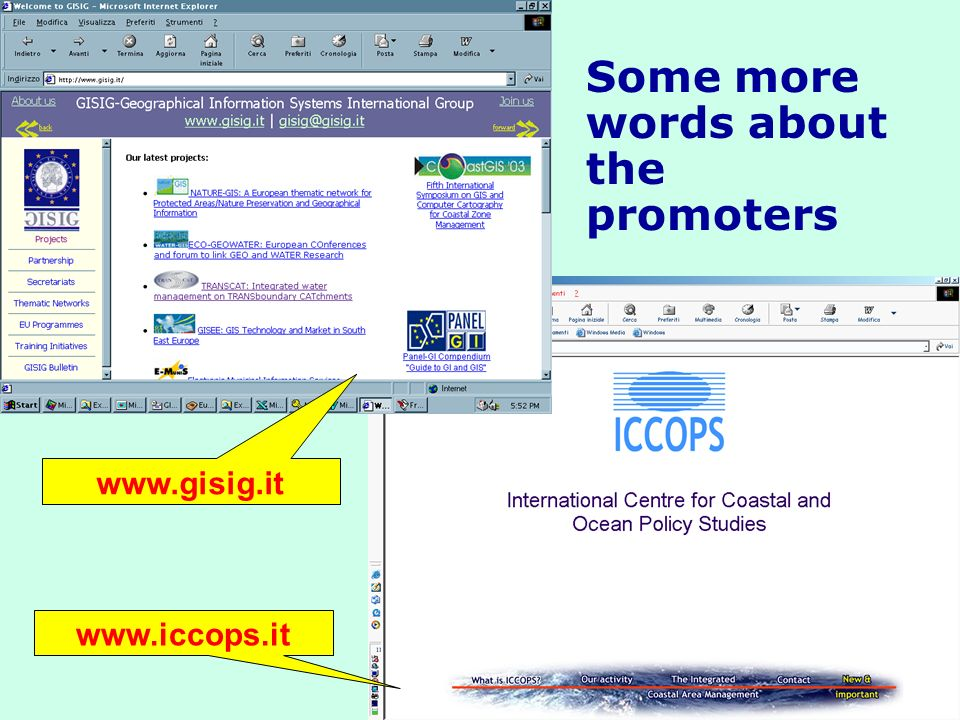 Some more words about the promoters www.gisig.it www.iccops.it
