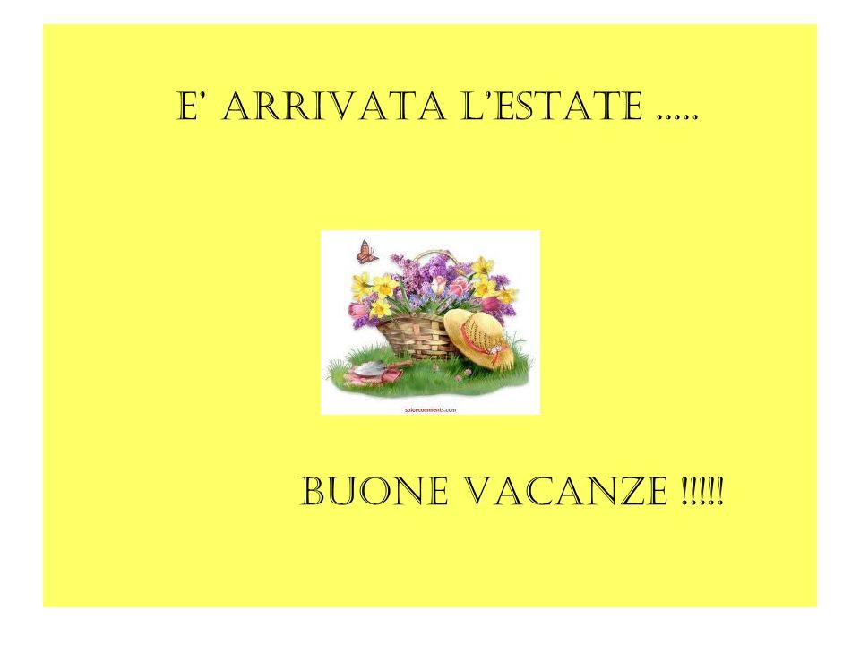 E arrivata lestate..... Buone vacanze !!!!!
