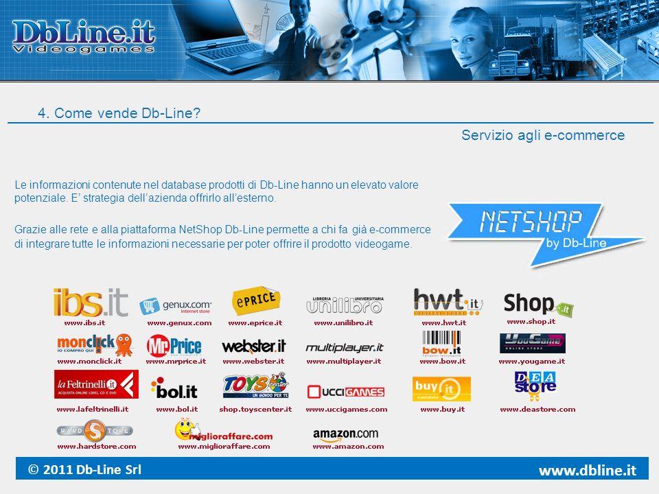 Servizio agli e-commerce Le informazioni contenute nel database prodotti di Db-Line hanno un elevato valore potenziale. E strategia dellazienda offrir