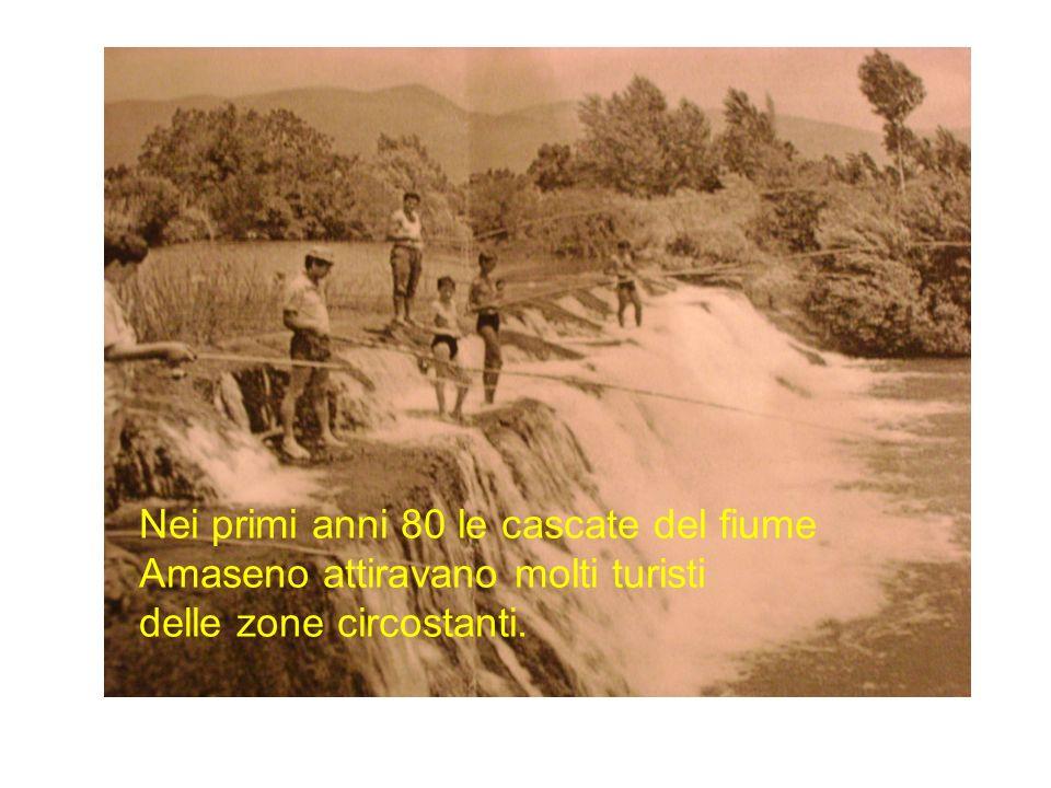 Nei primi anni 80 le cascate del fiume Amaseno attiravano molti turisti delle zone circostanti.