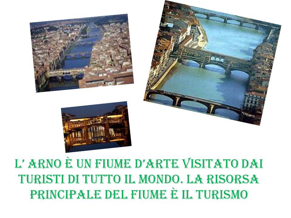 L Arno è un fiume darte visitato dai turisti di tutto il mondo. La risorsa principale del fiume è il turismo