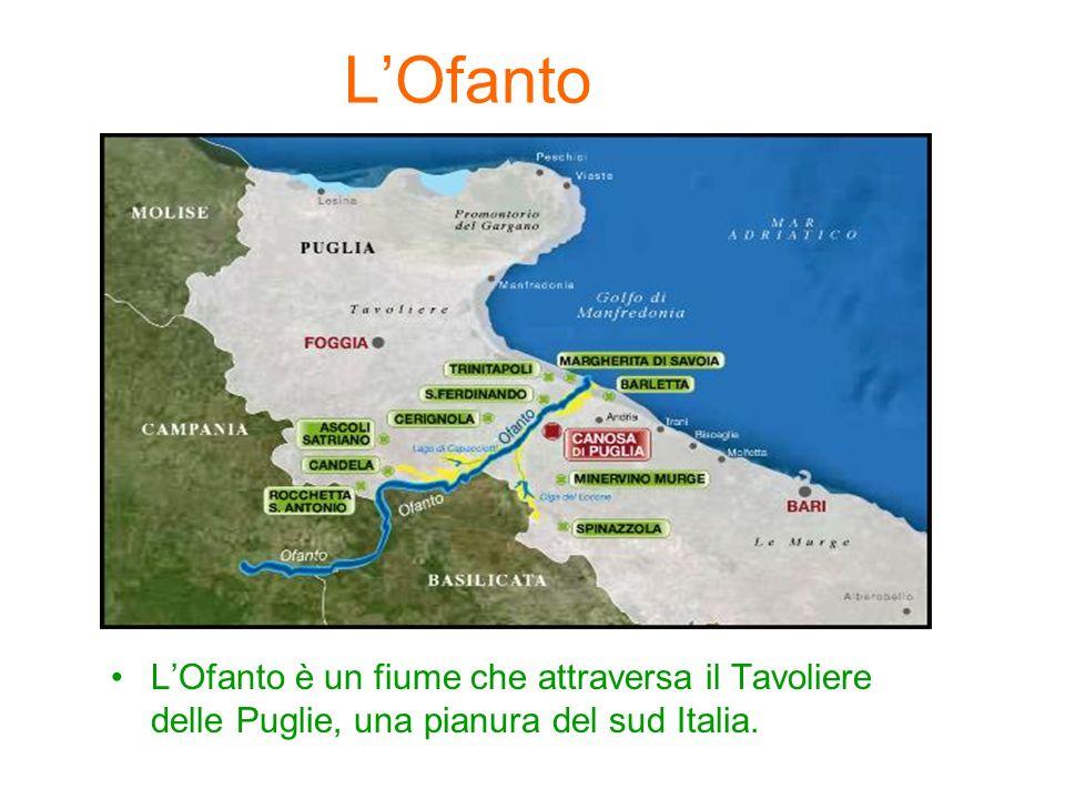 LOfanto LOfanto è un fiume che attraversa il Tavoliere delle Puglie, una pianura del sud Italia.