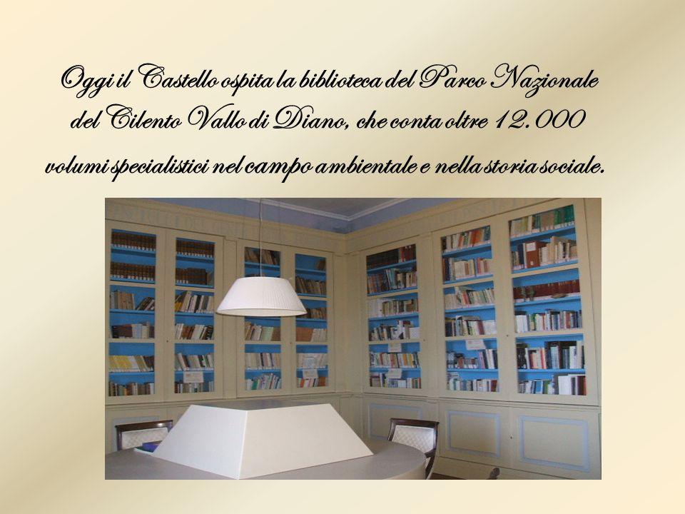 Oggi il Castello ospita la biblioteca del Parco Nazionale del Cilento Vallo di Diano, che conta oltre 12.000 volumi specialistici nel campo ambientale