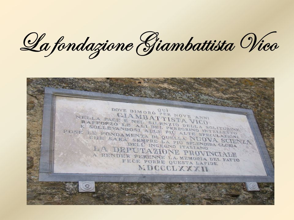 La fondazione Giambattista Vico