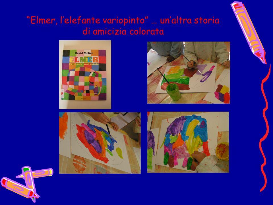 Lettura del libro … dove i personaggi colorati abbracciandosi generano amici di altri colori