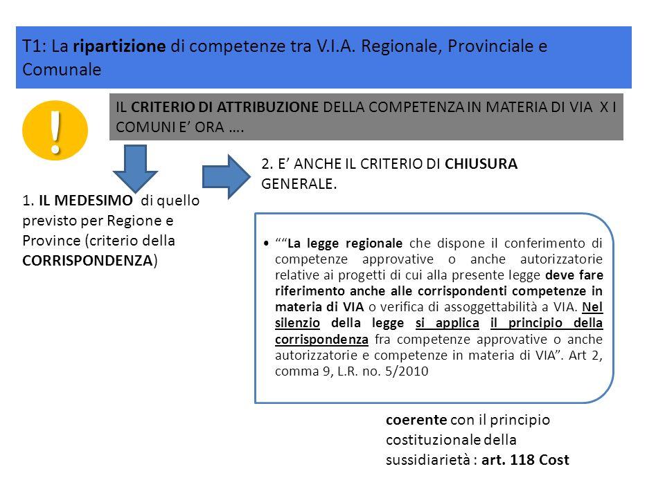 ! IL CRITERIO DI ATTRIBUZIONE DELLA COMPETENZA IN MATERIA DI VIA X I COMUNI E ORA …. La legge regionale che dispone il conferimento di competenze appr