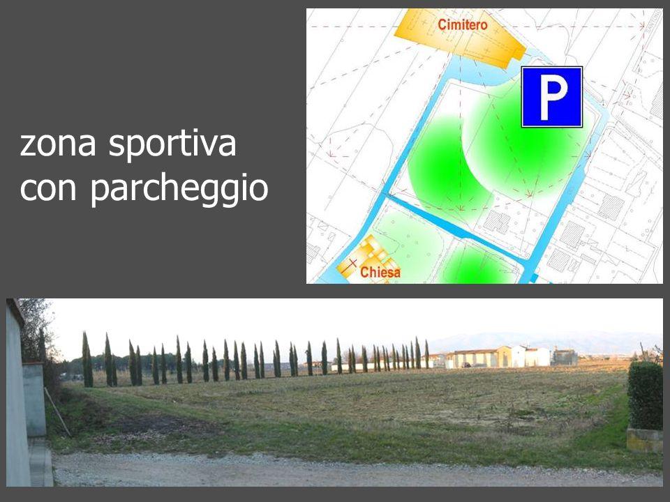 zona sportiva con parcheggio