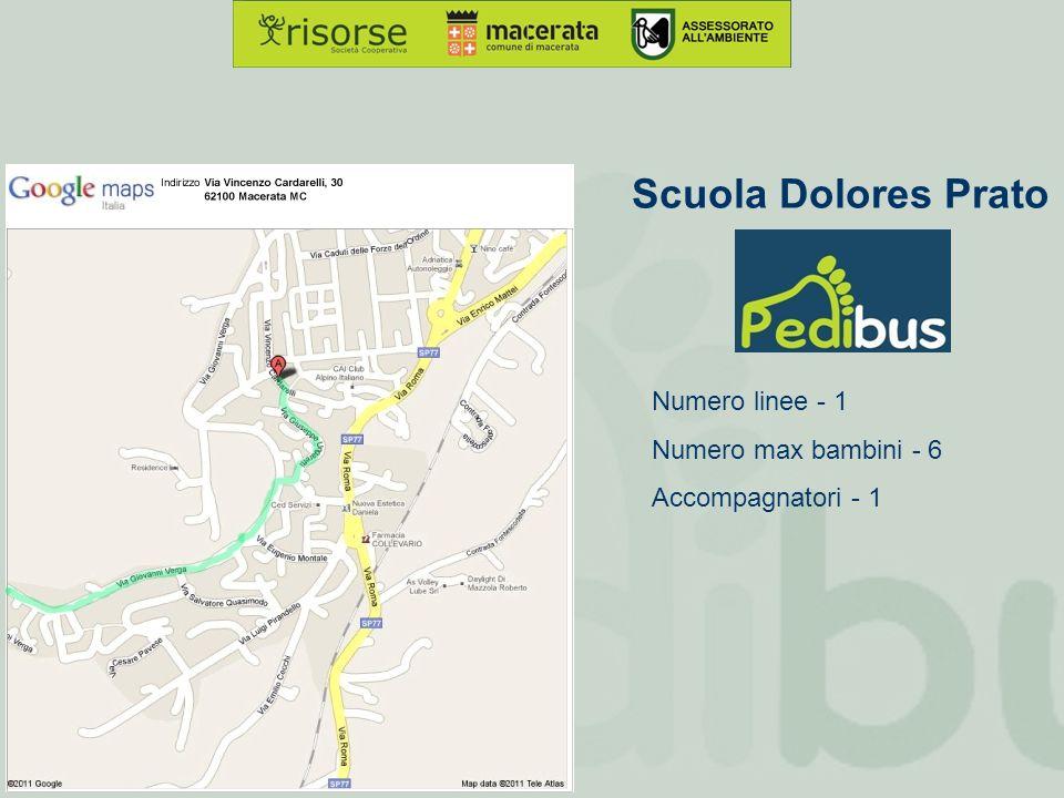 Scuola Dolores Prato Numero linee - 1 Numero max bambini - 6 Accompagnatori - 1
