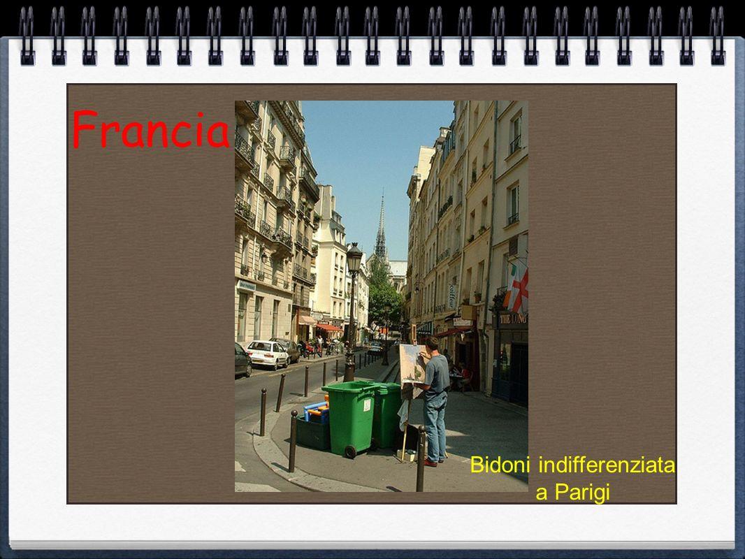 Bidoni indifferenziata a Parigi