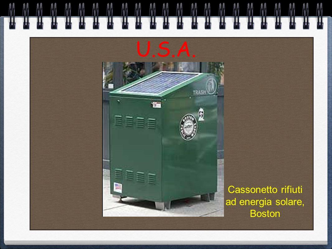 U.S.A. Cassonetto rifiuti ad energia solare, Boston