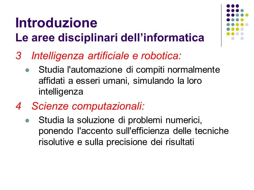3Intelligenza artificiale e robotica: Studia l'automazione di compiti normalmente affidati a esseri umani, simulando la loro intelligenza 4Scienze com