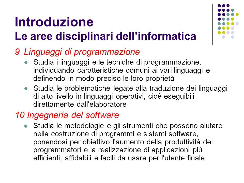 9Linguaggi di programmazione Studia i linguaggi e le tecniche di programmazione, individuando caratteristiche comuni ai vari linguaggi e definendo in
