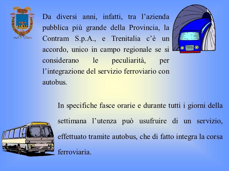 In specifiche fasce orarie e durante tutti i giorni della settimana lutenza può usufruire di un servizio, effettuato tramite autobus, che di fatto int