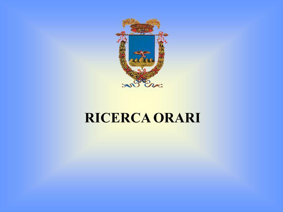 RICERCA ORARI
