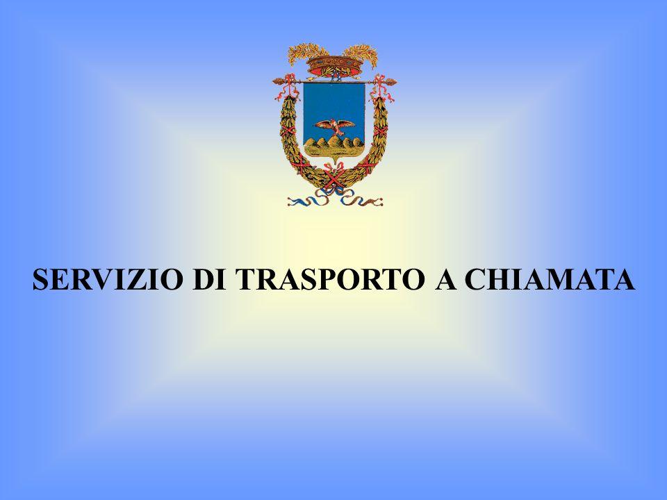 SERVIZIO DI TRASPORTO A CHIAMATA