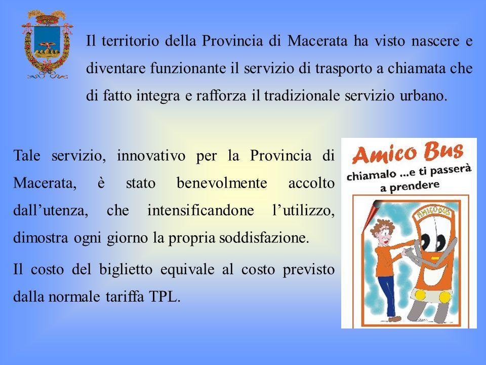 Tale servizio, innovativo per la Provincia di Macerata, è stato benevolmente accolto dallutenza, che intensificandone lutilizzo, dimostra ogni giorno