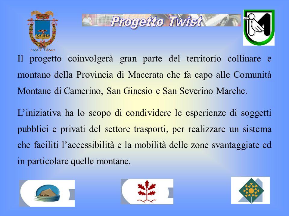 Il progetto coinvolgerà gran parte del territorio collinare e montano della Provincia di Macerata che fa capo alle Comunità Montane di Camerino, San G